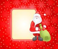 Cartão de Natal vermelho ilustração do vetor