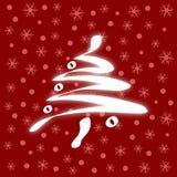 Cartão de Natal vermelho Fotos de Stock Royalty Free