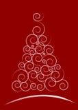 Cartão de Natal vermelho Fotos de Stock