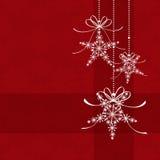Cartão de Natal vermelho da elegância abstrata Fotos de Stock Royalty Free