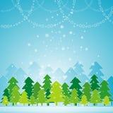 Cartão de Natal, vetor Imagem de Stock