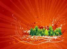 Cartão de Natal, vetor Fotos de Stock Royalty Free