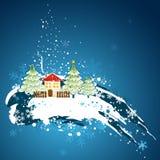 Cartão de Natal, vetor Imagens de Stock