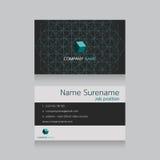 Cartão de nome da empresa da tecnologia Imagens de Stock