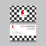 Cartão de nome da empresa geométrico Fotografia de Stock Royalty Free