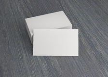 Cartão de nome da empresa na tabela fotografia de stock royalty free