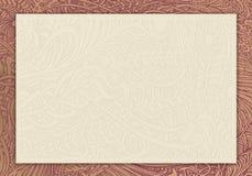 Cartão de Nouveau da arte Fotografia de Stock Royalty Free