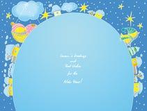 Cartão de Novo-Anos Fotografia de Stock Royalty Free