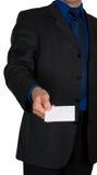 Cartão de oferecimento do homem de negócios Imagem de Stock