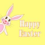 Cartão de Páscoa com coelhos no ilustração do vetor