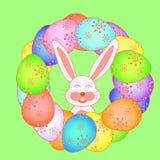 Cartão de Páscoa com coelhos no ilustração royalty free