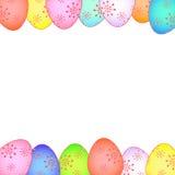 Cartão de Páscoa com ovos pintados EPS ilustração stock
