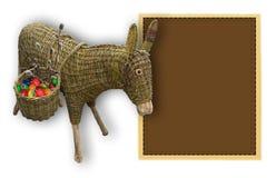 Cartão de Páscoa com um asno Imagem de Stock