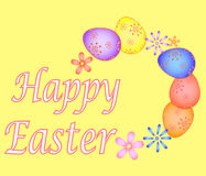 Cartão de Páscoa com vetor pintado EPS dos ovos ilustração do vetor