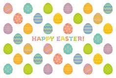 Cartão de Páscoa feliz. ilustração stock