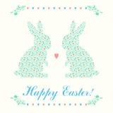 Cartão de Páscoa feliz Fotografia de Stock Royalty Free