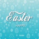 Cartão de Páscoa feliz com ornamento da Páscoa Vetor ilustração stock