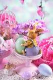 Cartão de Páscoa nas cores pastel Imagens de Stock