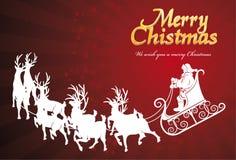 Cartão de Papai Noel Foto de Stock