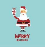 Cartão de Papai Noel ilustração stock