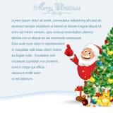Cartão de Papai Noel Fotografia de Stock Royalty Free