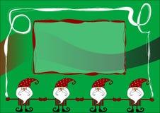 Cartão de Papai Noel Fotografia de Stock