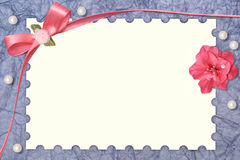 Cartão de papel com frame do projeto Foto de Stock