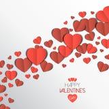 Cartão de papel do amor do coração Imagem de Stock