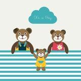 Cartão de papel do bebê recém-nascido. Fotos de Stock