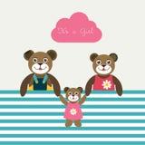 Cartão de papel do bebê recém-nascido. Imagens de Stock