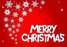 Cartão de papel do floco de neve do Natal do origâmi Imagem de Stock