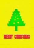 Cartão de papel do Natal Imagens de Stock