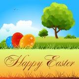 Cartão de papel feliz de Easter ilustração do vetor