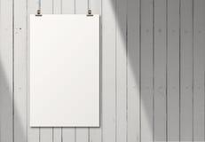 Cartão de papel vazio na parede da composição como o conceito Imagem de Stock