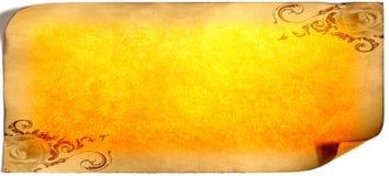 Cartão de papel velho, papel do ouro para escrever, ou fundo, ilustração, rolo Foto de Stock