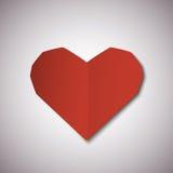 Cartão de papel vermelho do dia de Valentim dos corações Foto de Stock Royalty Free