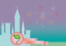 Cartão de patrick de Saint ilustração royalty free