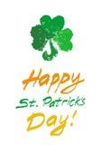 Cartão de Patricks pintado Imagens de Stock Royalty Free