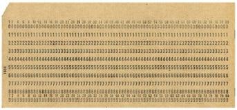 Cartão de perfuração de XXL Foto de Stock