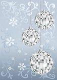 Cartão de prata de ano novo. Vetor Fotografia de Stock