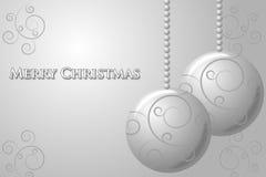 Cartão de prata do Natal Foto de Stock