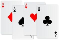 Cartão de quatro ás Fotografia de Stock Royalty Free