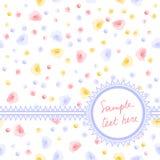 Cartão de Rosa Imagens de Stock