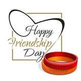 Cartão de rotulação do dia da amizade Projeto tipográfico Fotografia de Stock Royalty Free