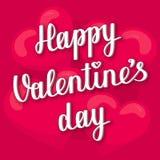 Cartão de rotulação feliz do dia de Valentim Fotografia de Stock
