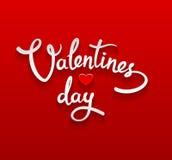 Cartão de rotulação feliz do dia de Valentim Imagem de Stock