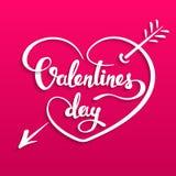 Cartão de rotulação feliz do dia de Valentim Foto de Stock Royalty Free