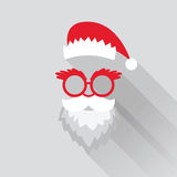 Cartão de Santa do Natal Fotografia de Stock