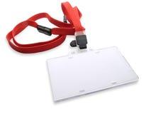Cartão de segurança em branco isolado no branco. Fotos de Stock