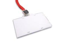 Cartão de segurança em branco no branco Imagem de Stock